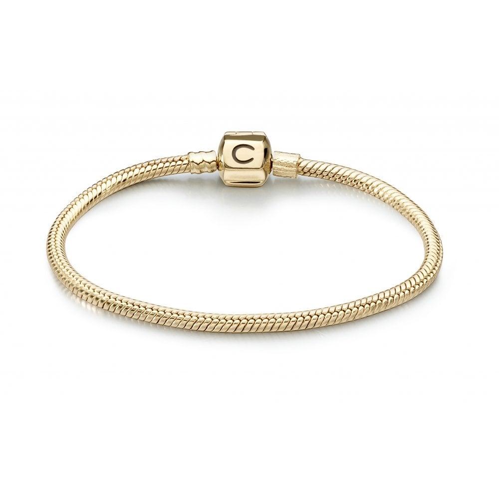 33c45d50cac1c 14ct gold bracelet with snap clasp - 7.5inch/19cm