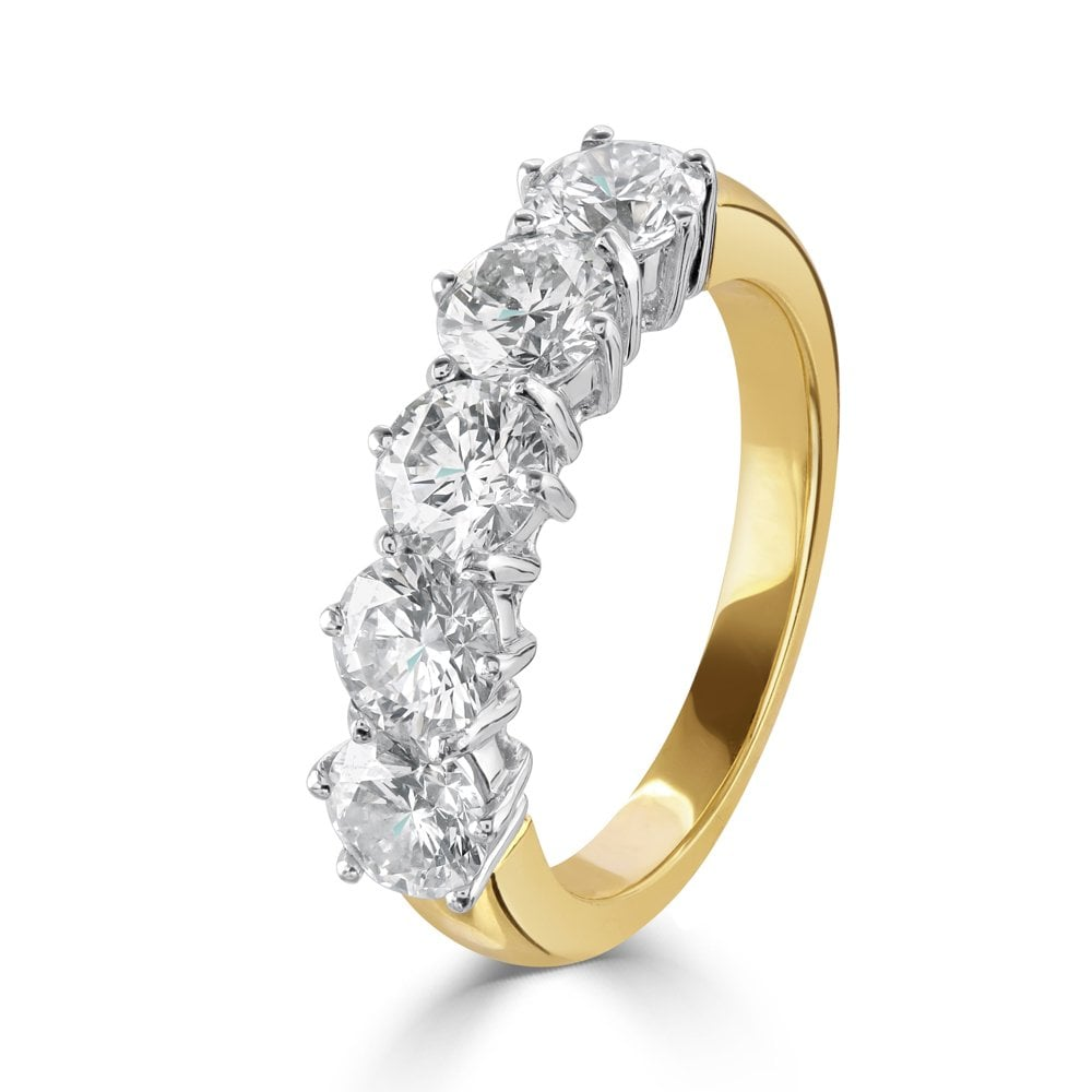 Dipples Dipples 18ct 5 Diamond Eternity Ring Rings From