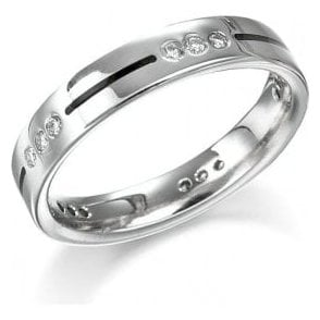 18ct White gold 15 diamond ring
