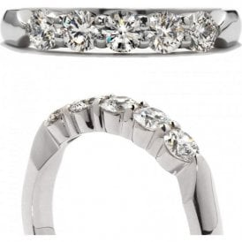 18ct white gold 5 Stone Band