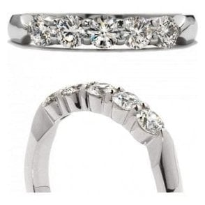 18ct white gold 5 Stone Diamond Eternity ring