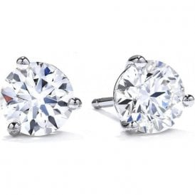 18ct White Gold Diamond Solitaire stud Earrings