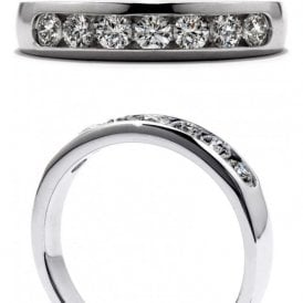 18ct white gold Duet Channel Set Band