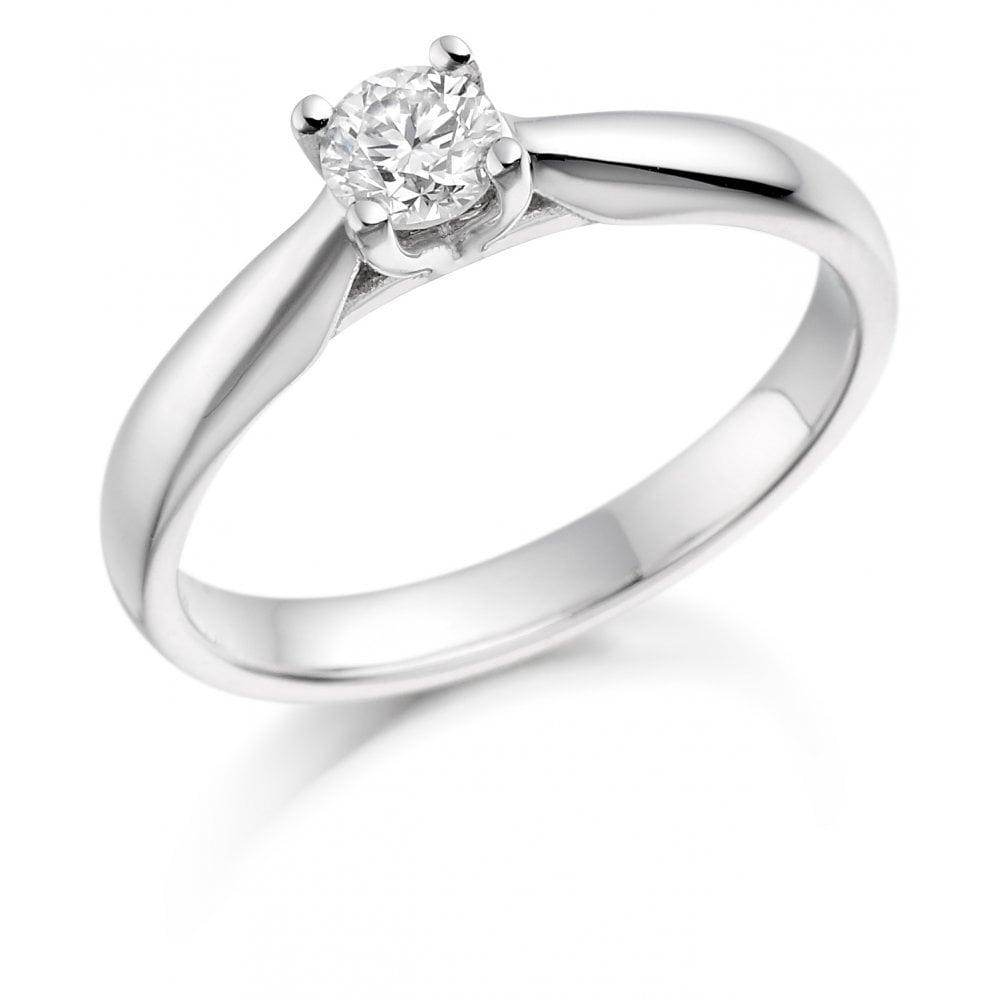 Brown Newirth 18ct White Gold Solitaire Diamond Ring Single Stone Diamond Rings From Dipples Uk