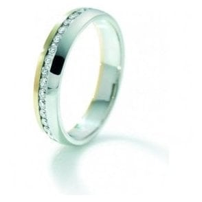 18ct yellow and white gold full eternity ring