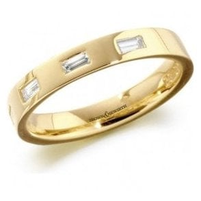 18ct yellow gold 4 diamond band