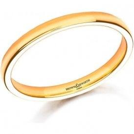 22ct yellow gold 2mm medium court band