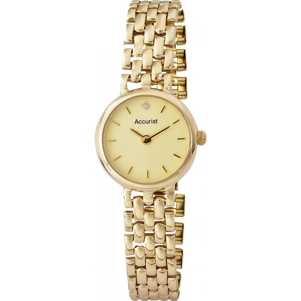 Accurist Ladies 9ct Gold Dress Watch