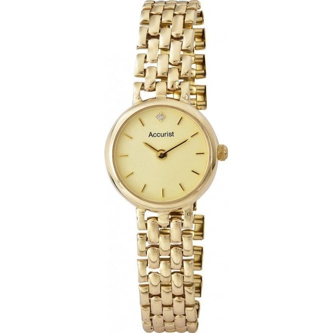 Accurist Ladies 9ct gold dress watch