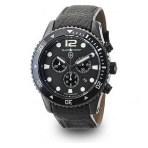 Bloxworth black dial and strap chronograph watch