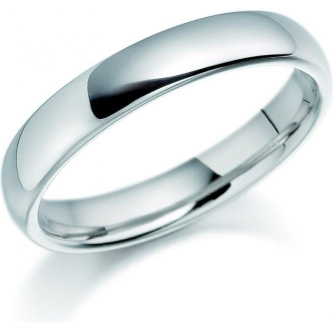 Brown & Newirth 14ct white gold 3mm medium court band