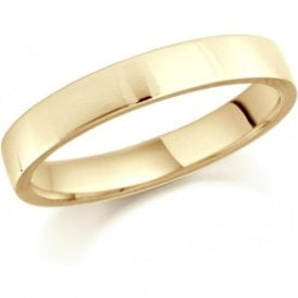 22ct yellow gold 4mm low domed court band