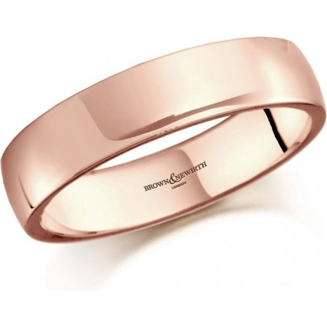 Brown & Newirth 9ct rose gold 6mm low domed court band