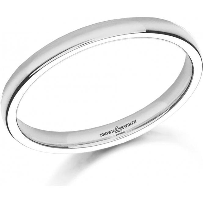 Brown & Newirth 9ct white gold 2mm medium court band