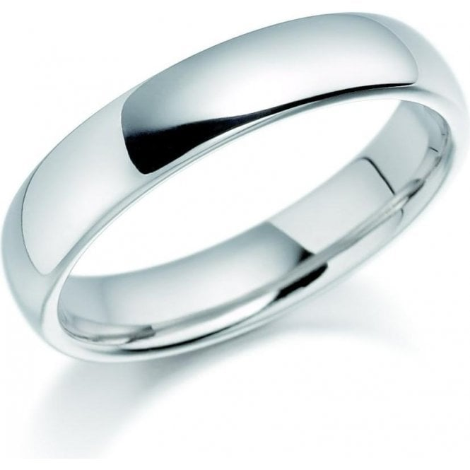 Brown & Newirth 9ct white gold 4mm medium court band