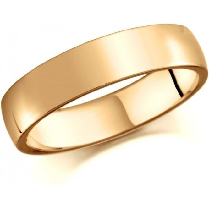 Brown & Newirth 9ct yellow gold 4mm low domed court band
