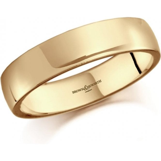 Brown & Newirth 9ct yellow gold 5mm low domed court band