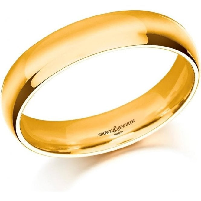 Brown & Newirth 9ct yellow gold 6mm medium court band