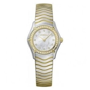 Ebel Lady's Wave diamond set bracelet watch