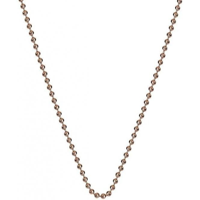 "Hot Diamonds Emozioni Emozioni rose gold plated silver 30"" Bead link chain."