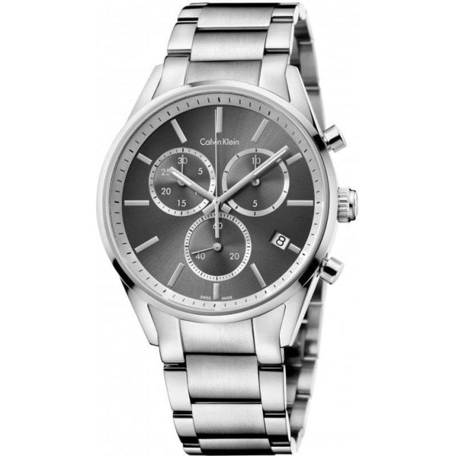 Calvin Klein Gentleman's Formal Stainless Steel Grey Dial Chronograph Watch