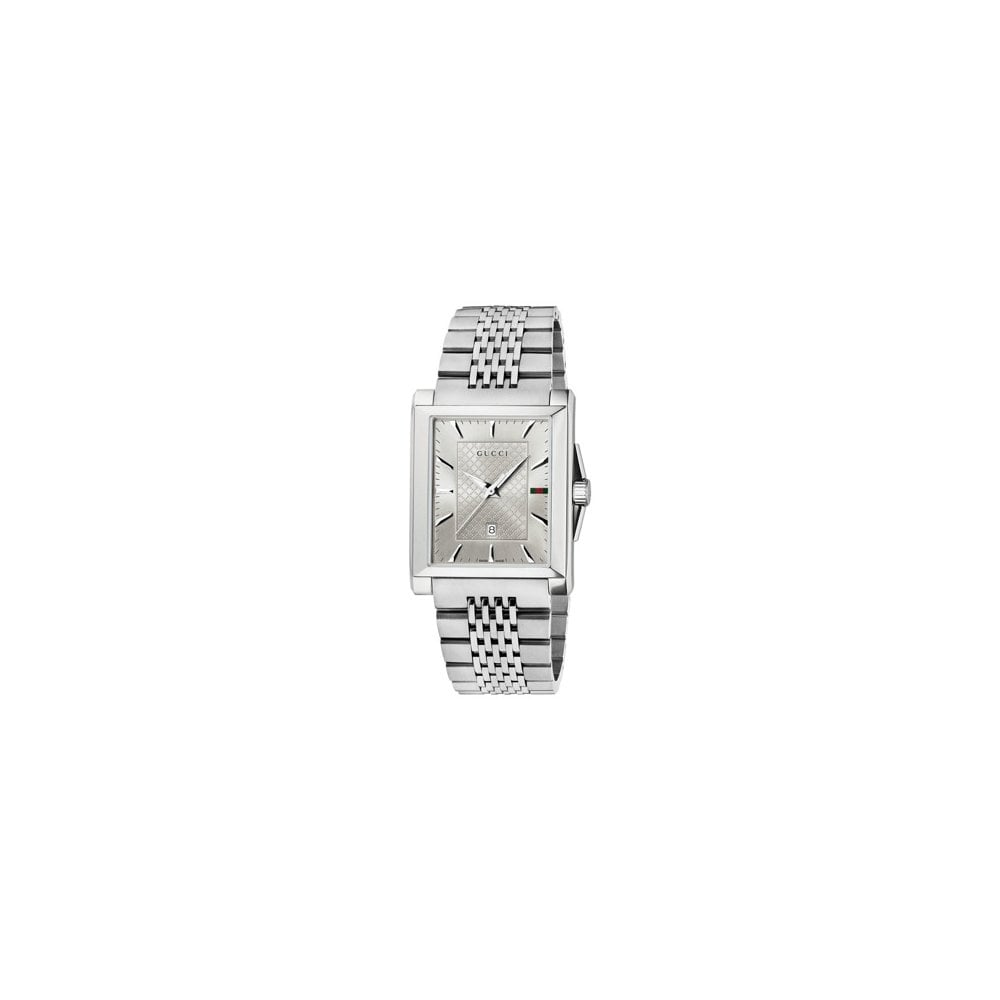 9c62cd946a8 Gentleman  039 s stainless steel Gucci G-timeless watch.