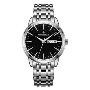 Gents 1890 Series Black Dial Bracelet Quartz Watch