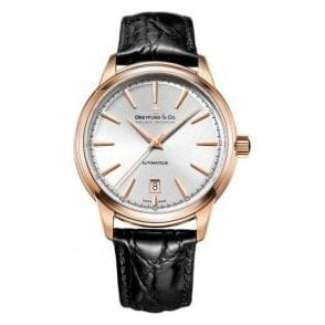 Gents 1890 Series Rose PVD Black Strap Automatic Watch