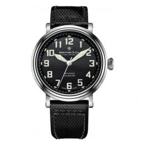 Gents 1924 Series Black Arabic Dial Manual Wind Watch