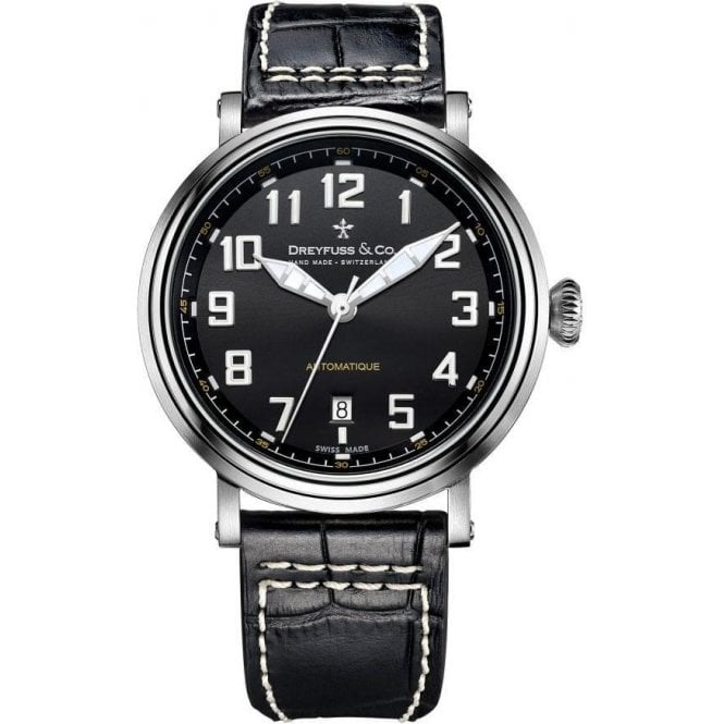 Dreyfuss & Co Gents 1924 Series Black Dial Automatic Watch