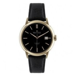 Gents 1925 Series Rose PVD Black Dial Automatic Watch