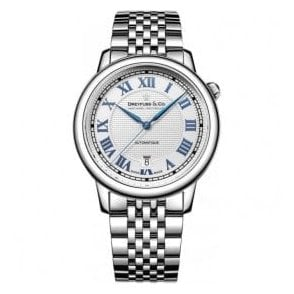 Gents 1925 Series Silver and Blue Dial Automatic Watch