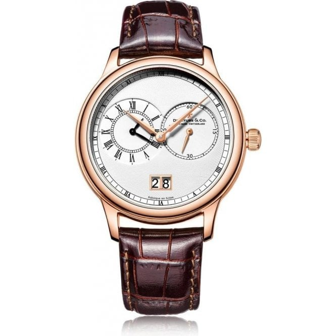Dreyfuss & Co Gents 1946 Series Rose PVD Dual Time Zone Quartz Watch