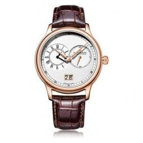 Gents 1946 Series Rose PVD Dual Time Zone Quartz Watch
