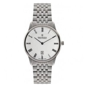 Gents 1980 Series White Dial Bracelet Quartz Watch