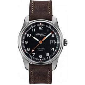 Gents AIRCO MACH 1 Black Dial Black Strap Automatic Watch