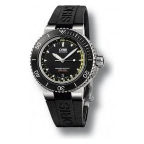 Gents Aquis Depth Gauge Black Dial Automatic Watch
