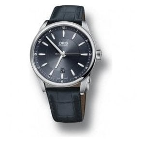 Gents Artix Date Blue Dial Blue Leather Strap Automatic Watch