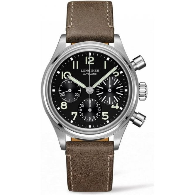 Longines Gents Avigation BigEye Black Dial Chronograph Automatic Watch