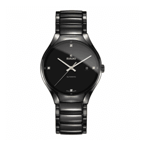 Gents Black High Tech Ceramic True With 4 Diamond Dial