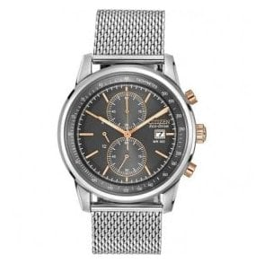 Gents Citizen Eco Drive Chronograph Mesh Bracelet Watch