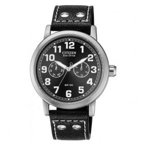 Gents Citizen Eco Drive Leather Strap Watch