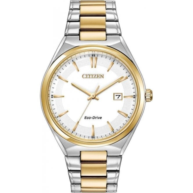 Citizen Gents Citizen Eco Drive Two Tone Bracelet Watch