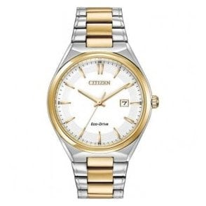 Gents Citizen Eco Drive Two Tone Bracelet Watch