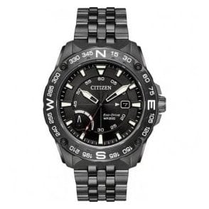 Gents Citizen PRT Eco Drive Black PVD Bracelet Watch