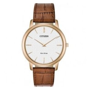 Gents Citizen Stiletto Eco Drive Leather Strap Watch