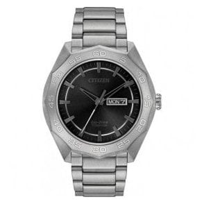 Gents Citizen Super Titanium Eco Drive Bracelet Watch