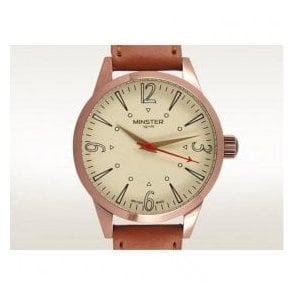 Gents Copper PVD Crofton On Strap Cream Dial