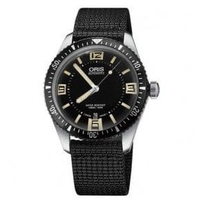 Gents Diver's Sixty-Five Black Canvas Strap Automatic Watch