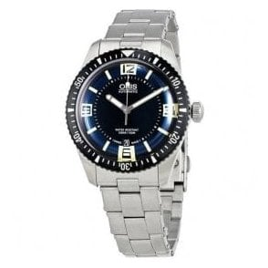 Gents Diver's Sixty-Five Blue Dial Bracelet Automatic Watch